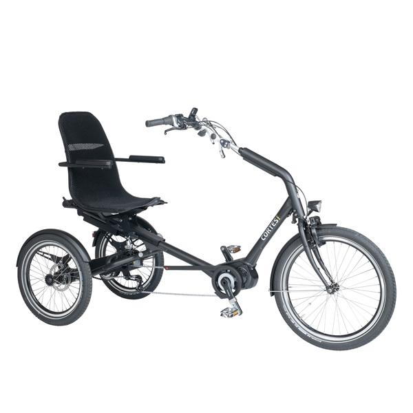 Trident trehjulscykel Cortes från sidan