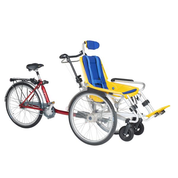 Trident rullstolscykel Duet från sidan