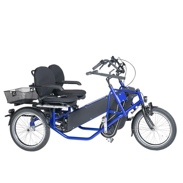 Trident parcykel Side-by-side från sidan