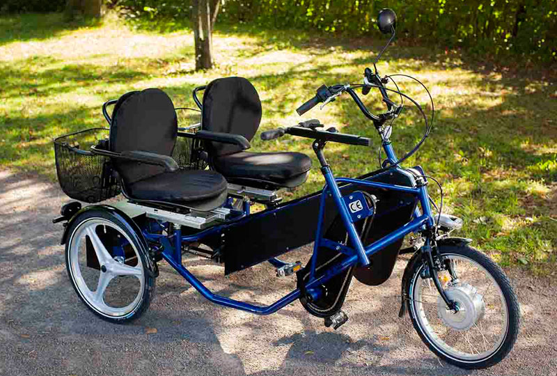 Trident parcykel Side-by-side