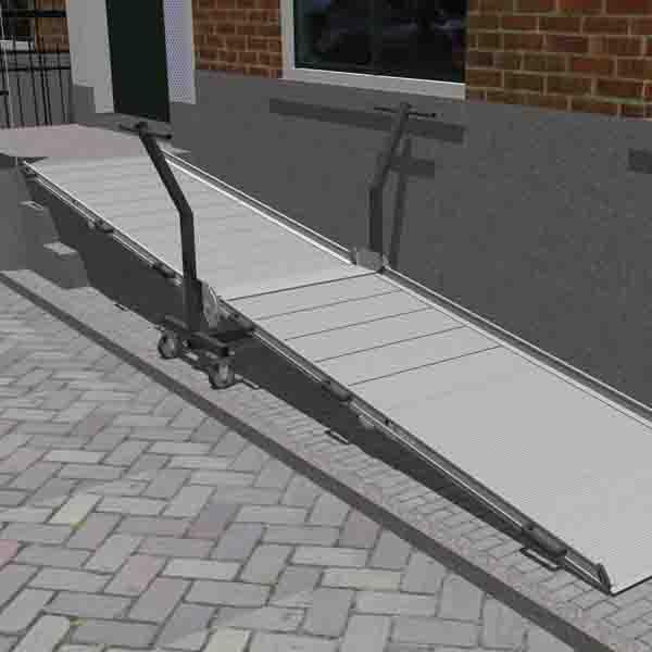 Mobil aluminium ramp