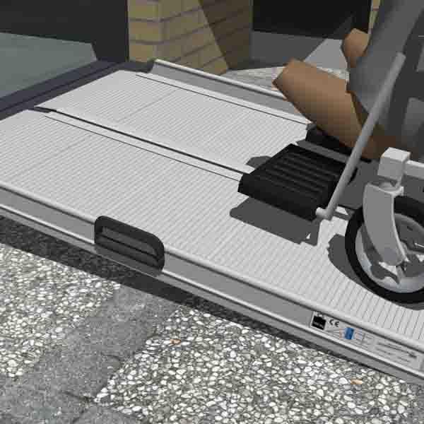 Trident Mobil ramp Vikbar ramp