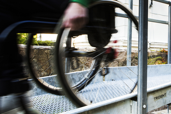 Trident rullstolsramp miljöbild